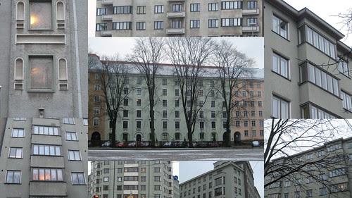 Mintunväriset talot Töölössä