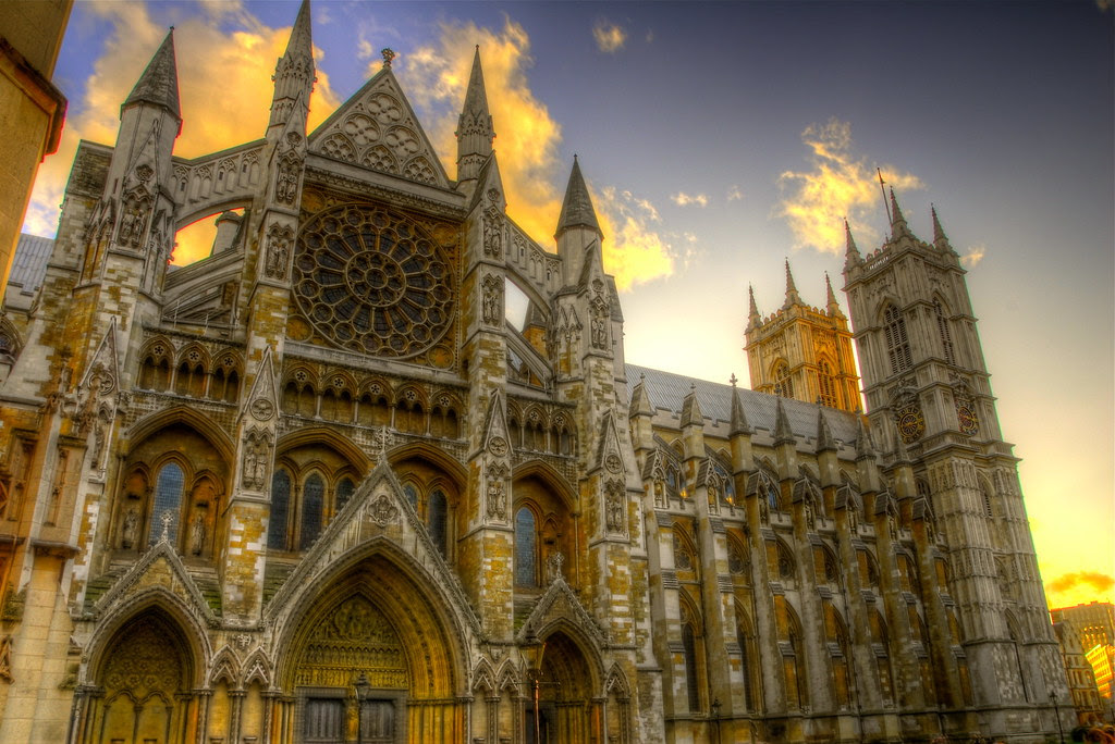 Westminster Abbey at sunset