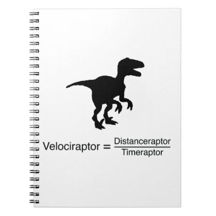 velociraptor funny science spiral notebook
