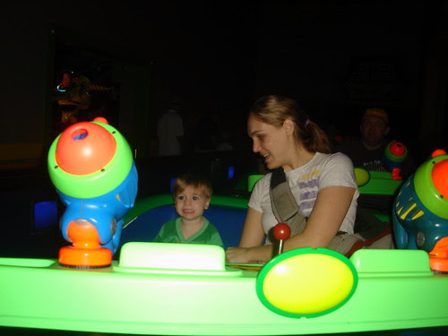 On Buzz Lightyear Astro Blasters