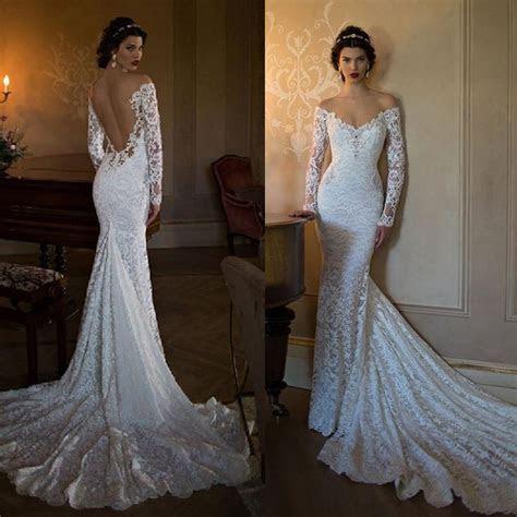 Sexy Berta 2016 Mermaid Wedding Dresses Off Shoulder Long