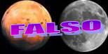 FALSO. La Luna y Marte, según la cadena engañosa, Sky&Telescope.