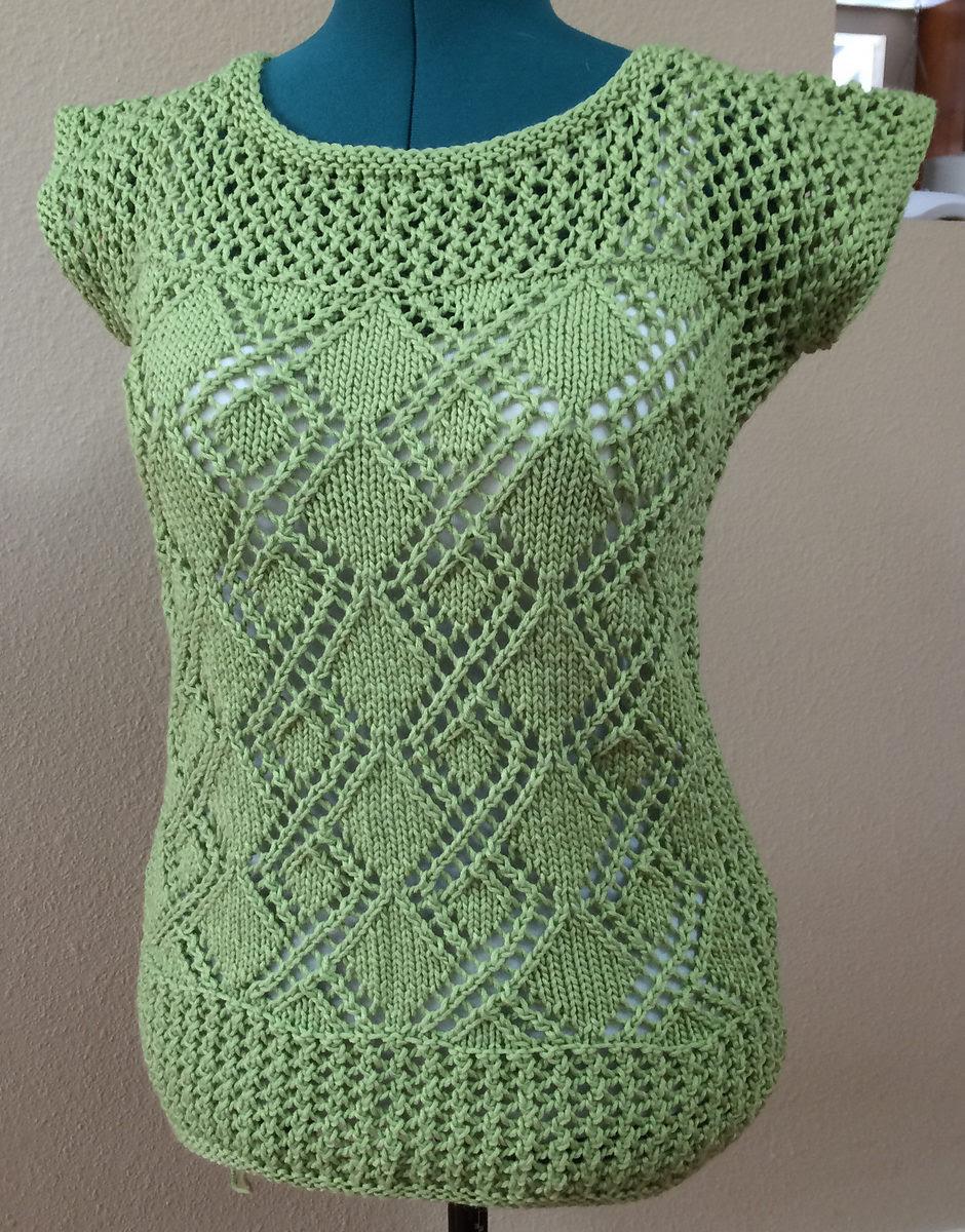 Free Knitting Pattern for Date Night Tunic