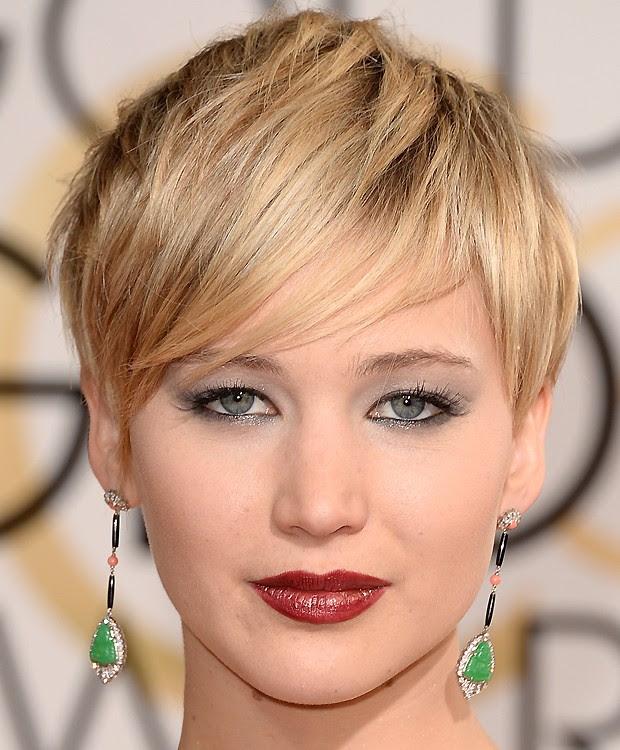 Jennifer Lawrence brinco cabelo curto