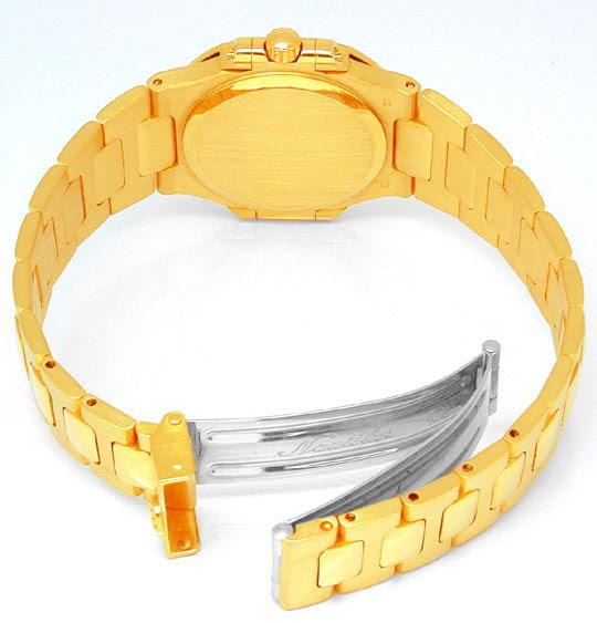 Foto 2, Patek Philippe Nautilus, Damen-Armbanduhr, Gold Geprüft, U1787