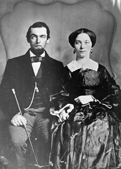 Jack Casement and Frances Jennings Casement at wedding in 1857