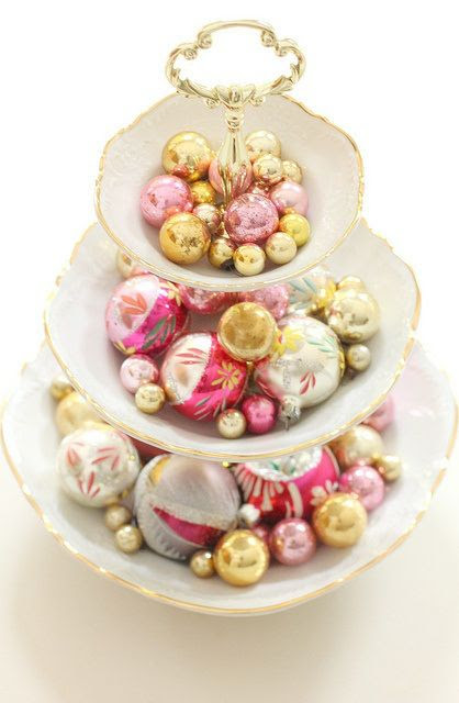 Vintage Ornament Display..