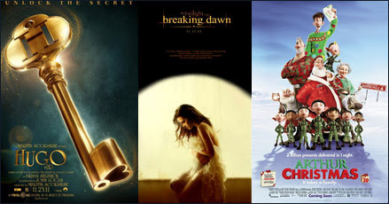 Hugo, Breaking Dawn, Arthur Christmas