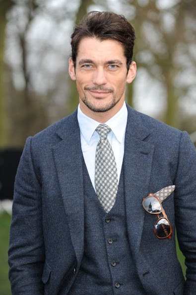 David Gandy - Arrivals at the Burberry Prorsum Menswear Show