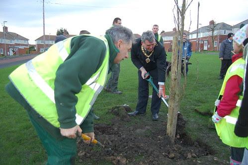Washingwell School tree planting Dev 09 no 21