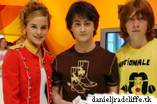Daniel Radcliffe, Emma Watson and Rupert Grint on TRL UK