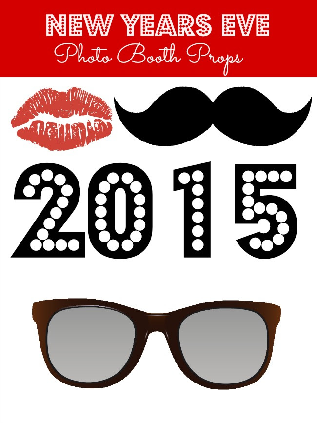 New Years Eve Free Printable Photo Booth Props Debt Free Spending