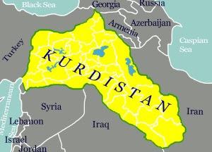Karta över det Kurdistan som inte finns