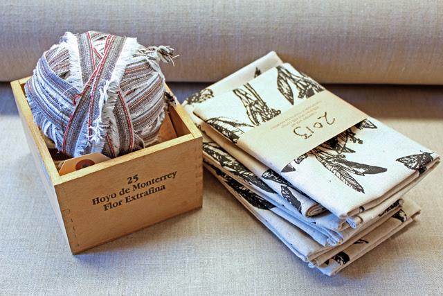 Selvedge yarn and calendars