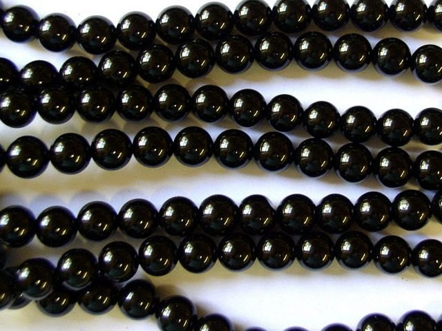 Black Onyx Round Beads 8mm - DESTASH