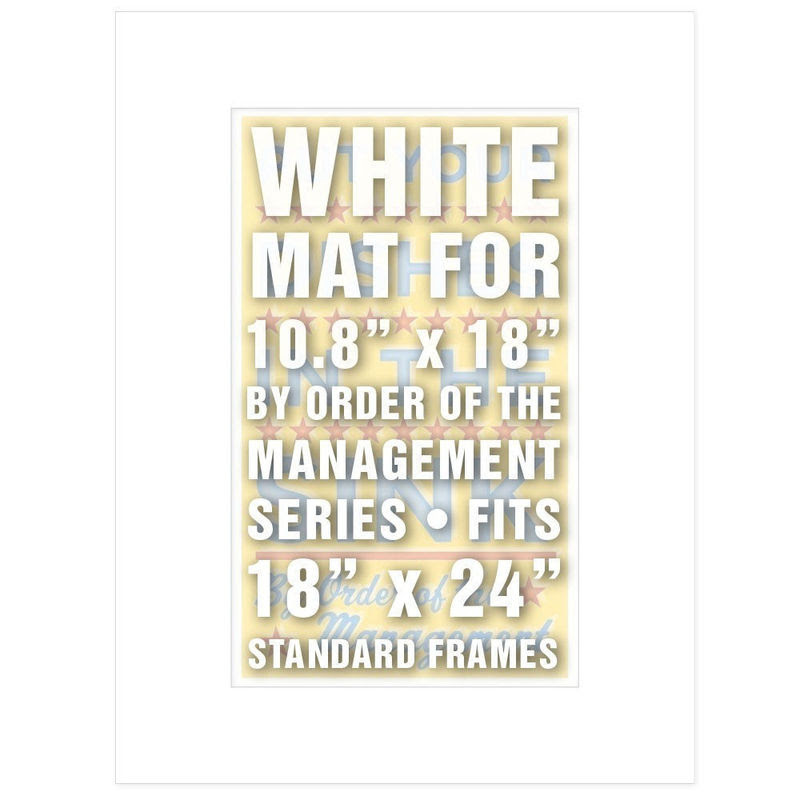 18 In X 24 In Mat White For 108 In X 18 In By Order Of The