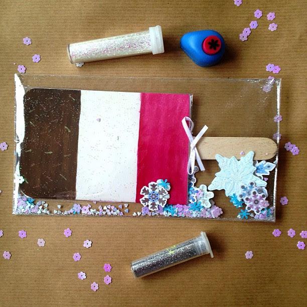 #fab #confetti #icecream #icelolly #snowflakes #elevatedenvelope #glitter #snailmail