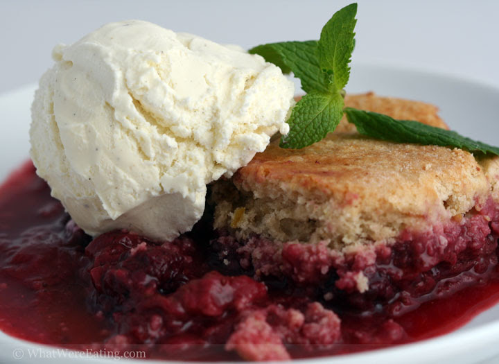 Strawberry and Blackberry Cobbler