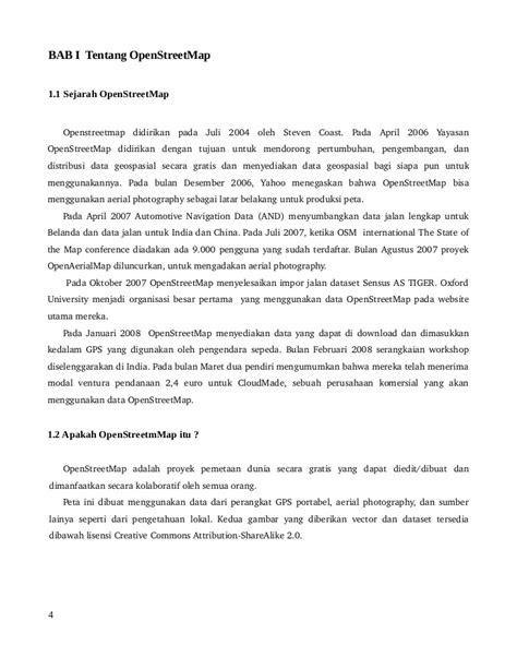 Dokumentasi open streetmap reimplementation