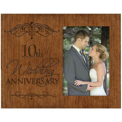 Personalized 10th golden Wedding Anniversary picture frame