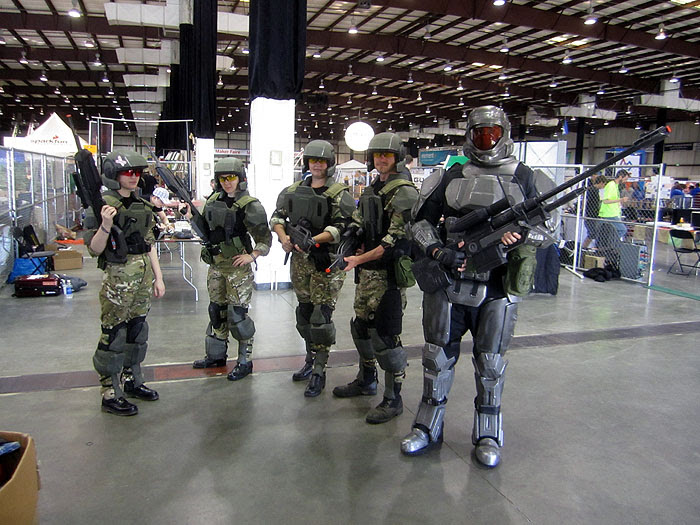 Marines and an ODST