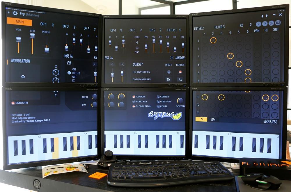 Menggunakan Sytrus plugin untuk desain suara