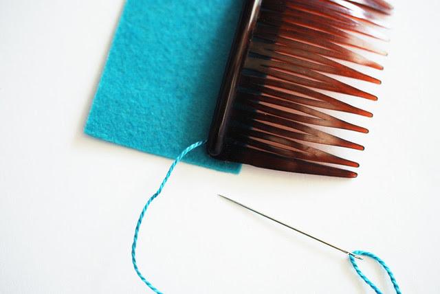 Fold Over Felt Hair Comb