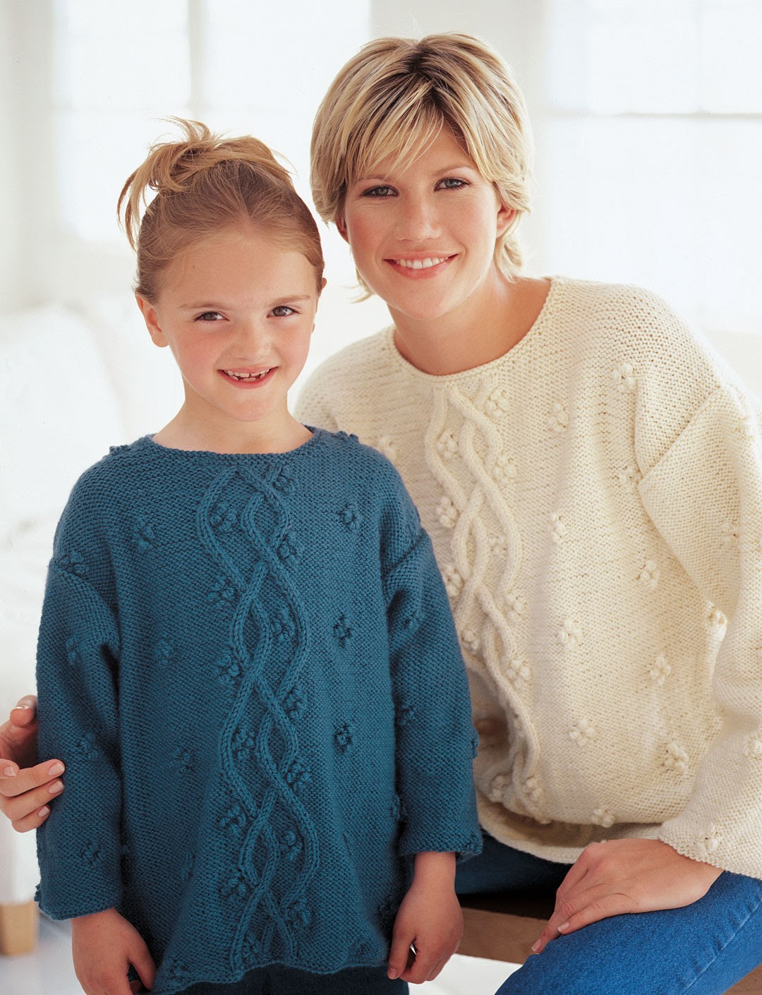 Free knitting pattern for Just Like Mom Pullover