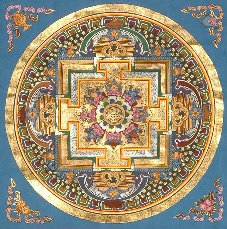 Mandala - dharma_chakra_mandala_with_ashtamangala_tq29