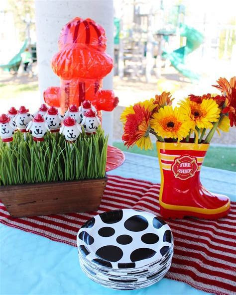 Kara's Party Ideas Vintage Fireman Themed Birthday Party
