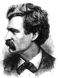 Mark Twain picture from Appleton's Journal Jul...