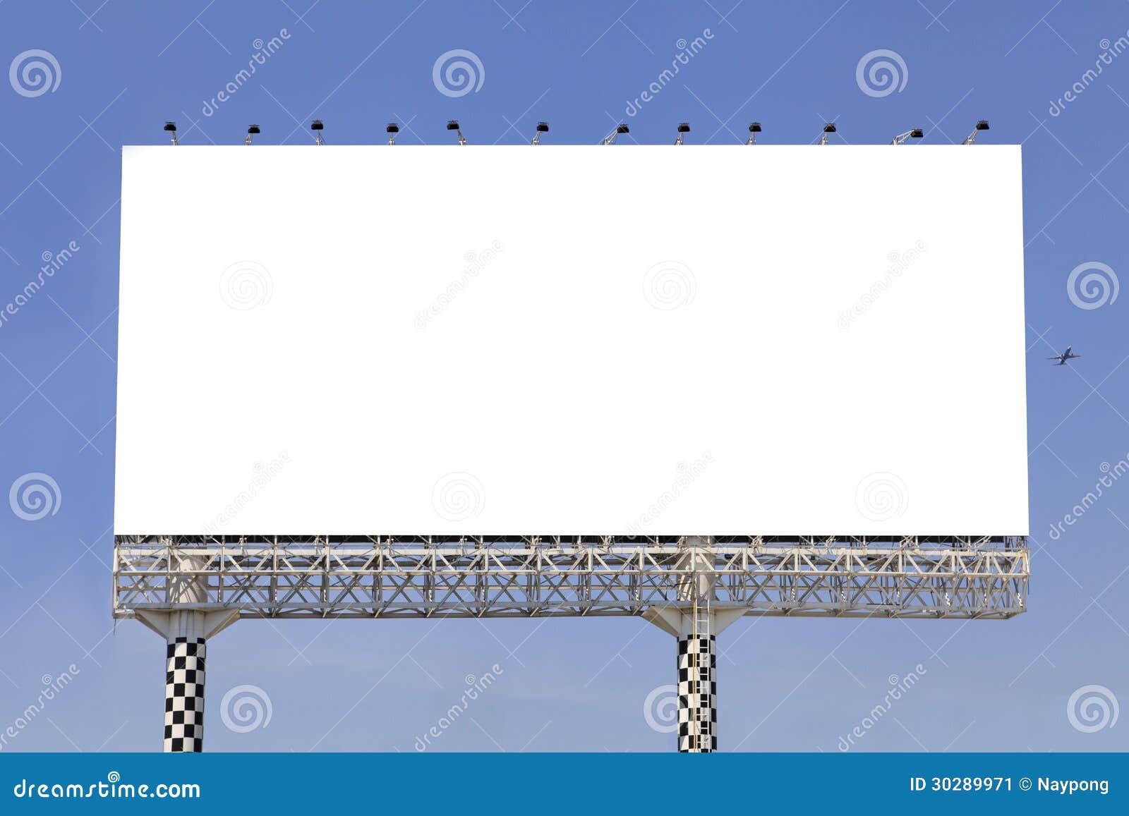 Blank Outdoor Billboard Stock Image - Image: 30289971