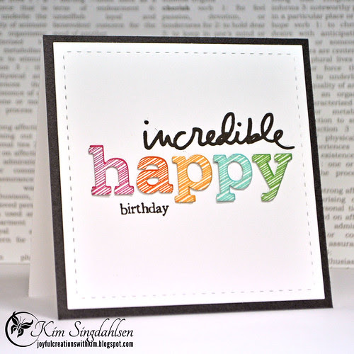incredible happy birthday