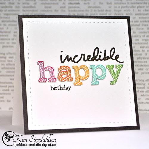 incredible happy birthday