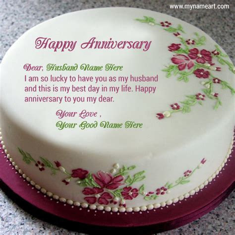 Happy Anniversary Cake With Quotes Name Pictures Card