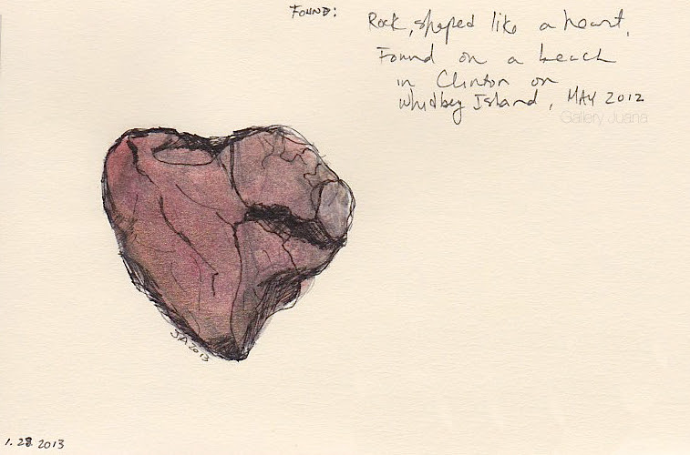 heart rock daily sketch