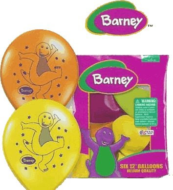 Barney Barney Balloons Package Of 6 Balloons