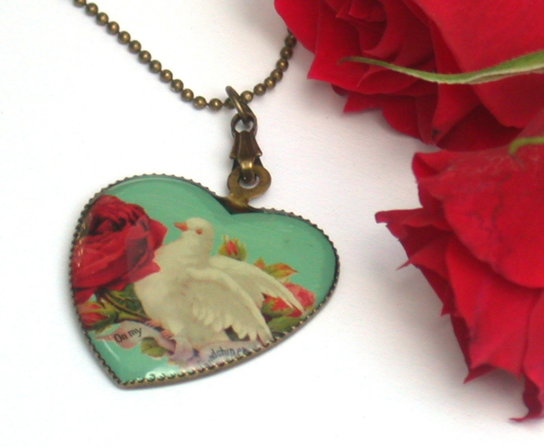 Dove of Love Vintage Necklace
