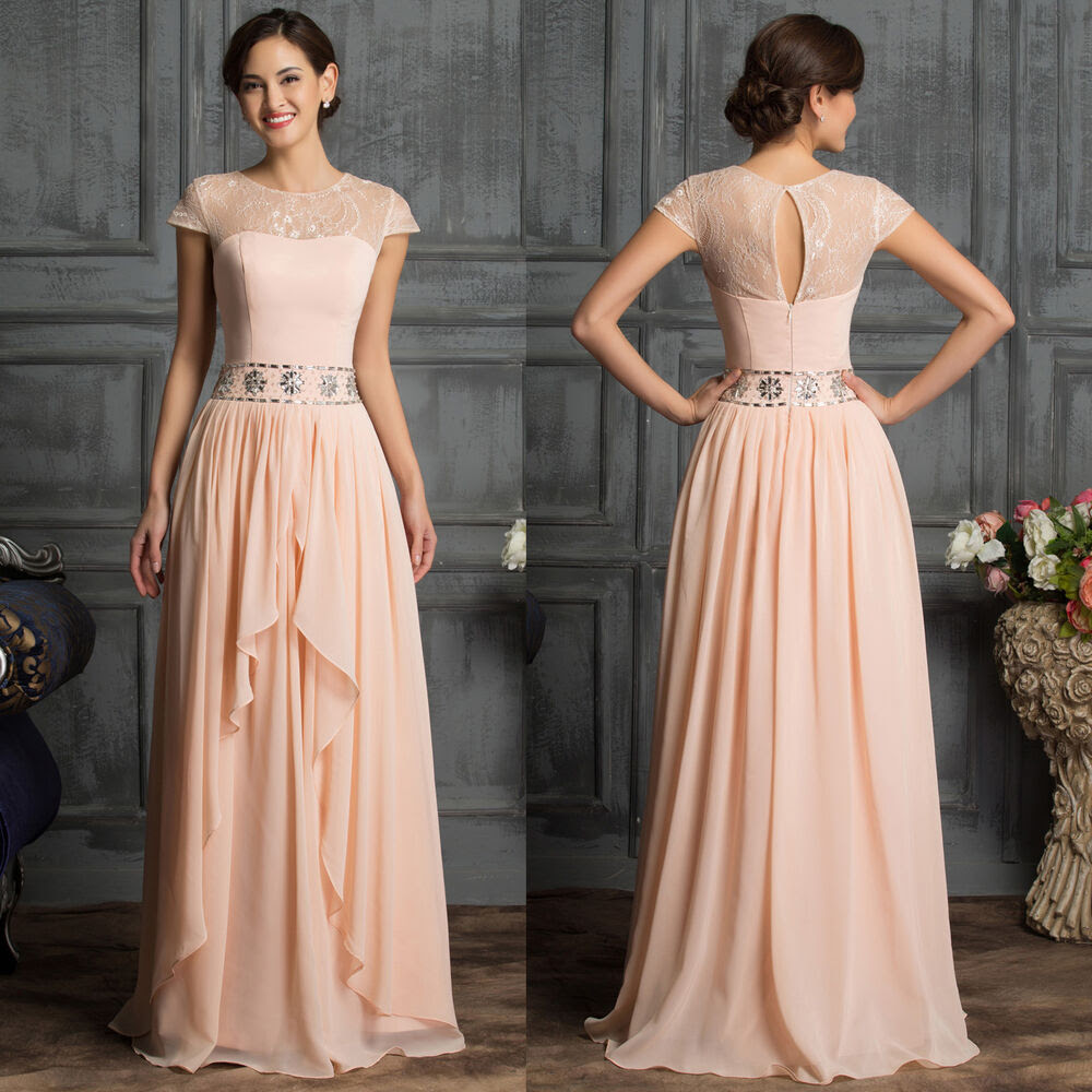 stock cap sleeve elegant mother of the bride dress gown