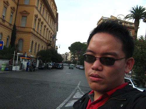 Posing before going to Via Veneto