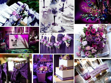 purple and silver wedding centerpieces   Reference For