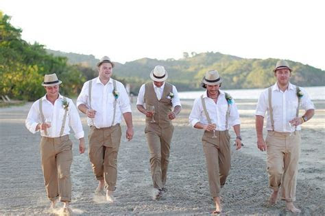 vintage styles beach wedding attire  men   beach