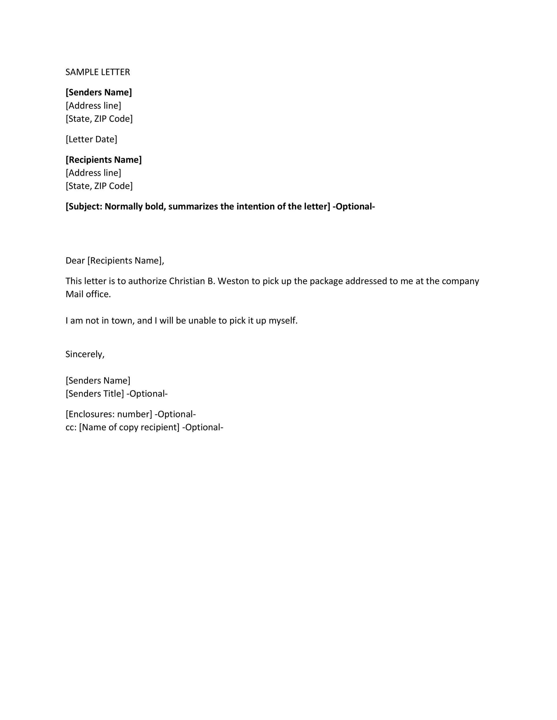 Authorization Letter 22