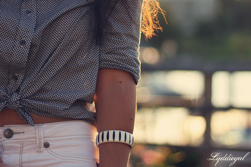 fresh white striped bracelet