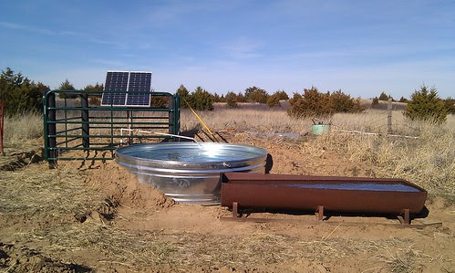 Here's the finished solar pump installation.