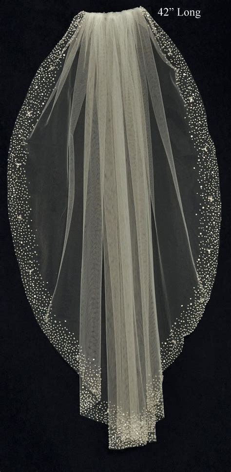 wow! Stunning Wedding Veil with Heavy Beaded Border