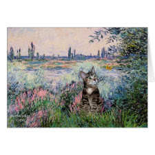 Cat (Tabby 2) - By the Seine card