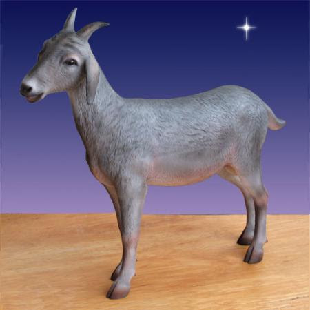 """Life Size Goat 39""""H - 6 foot scale Outdoor Nativity"""