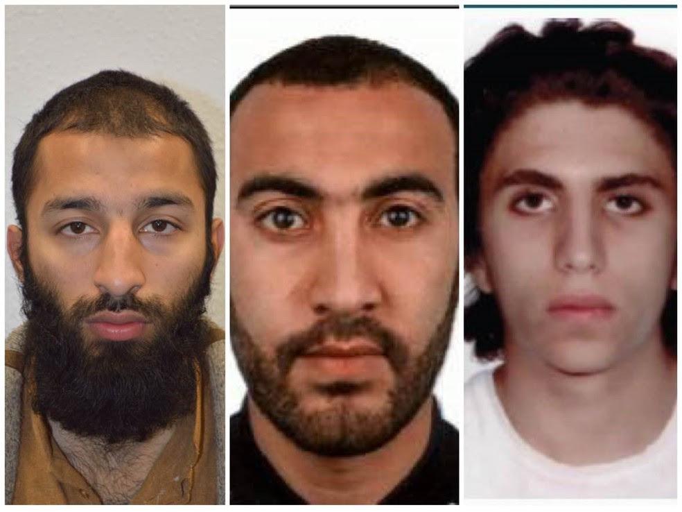 Autores do ataque terrorista na London Bridge (Foto: Reprodução/Twitter/Metropolitan Police)