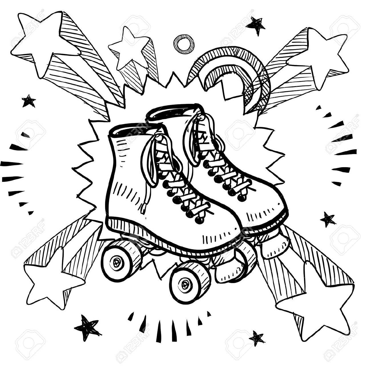 Roller Derby Coloring Pages At Getdrawingscom Free For Personal